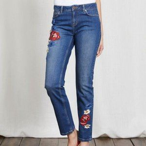 Boden cavendish girlfriend jeans embroidered